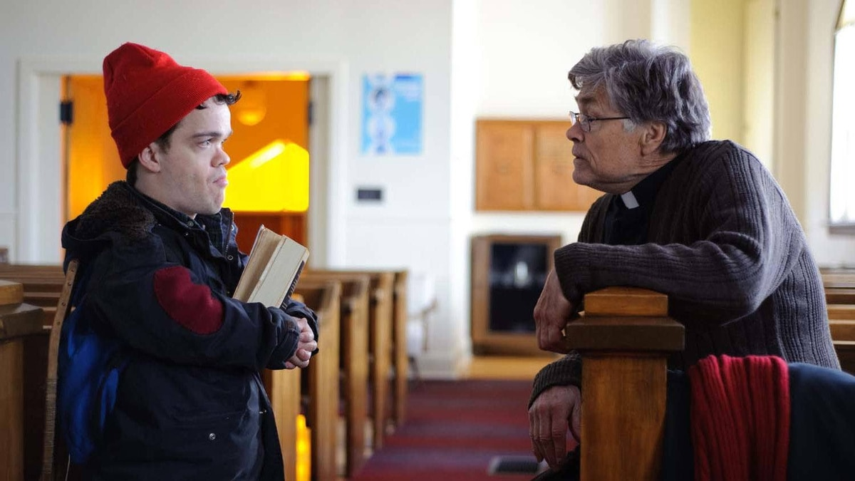 """Jordan Prentice and Art Hindle in a scene from """"An Insignificant Harvey"""""""