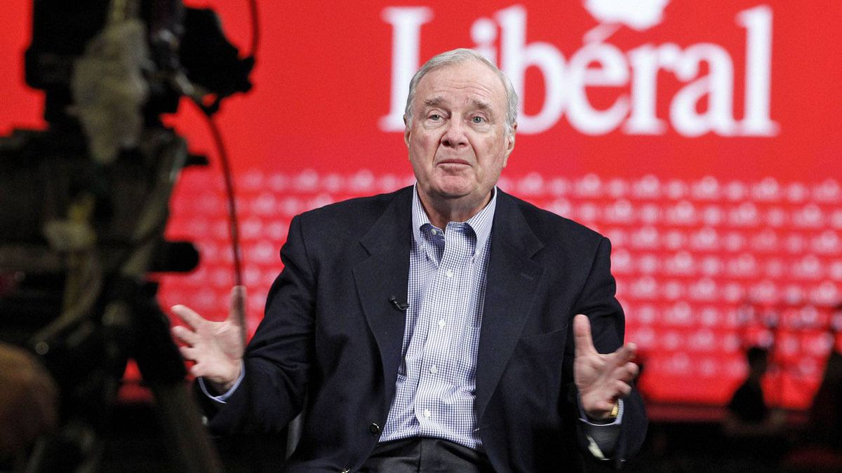 Former Prime Minister Paul Martin gives an interview at the Liberal policy convention in Ottawa on Jan. 13, 2012.