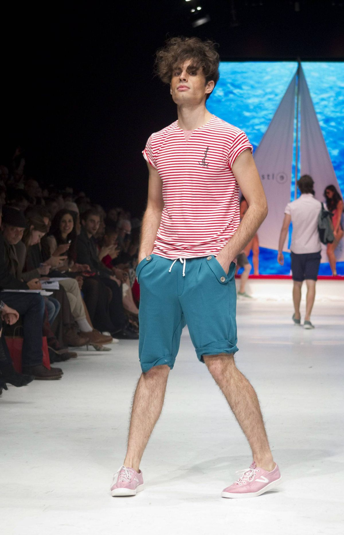 It's all about boating for Bustle in spring 2012 and designers Shawn Hewson and Ruth Promislow win a gold star for the most fun show of the week.