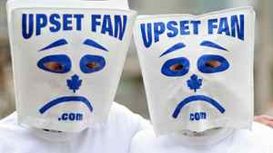 Toronto Maple Leafs fans share their dismay at the team's performance in March of 2008.