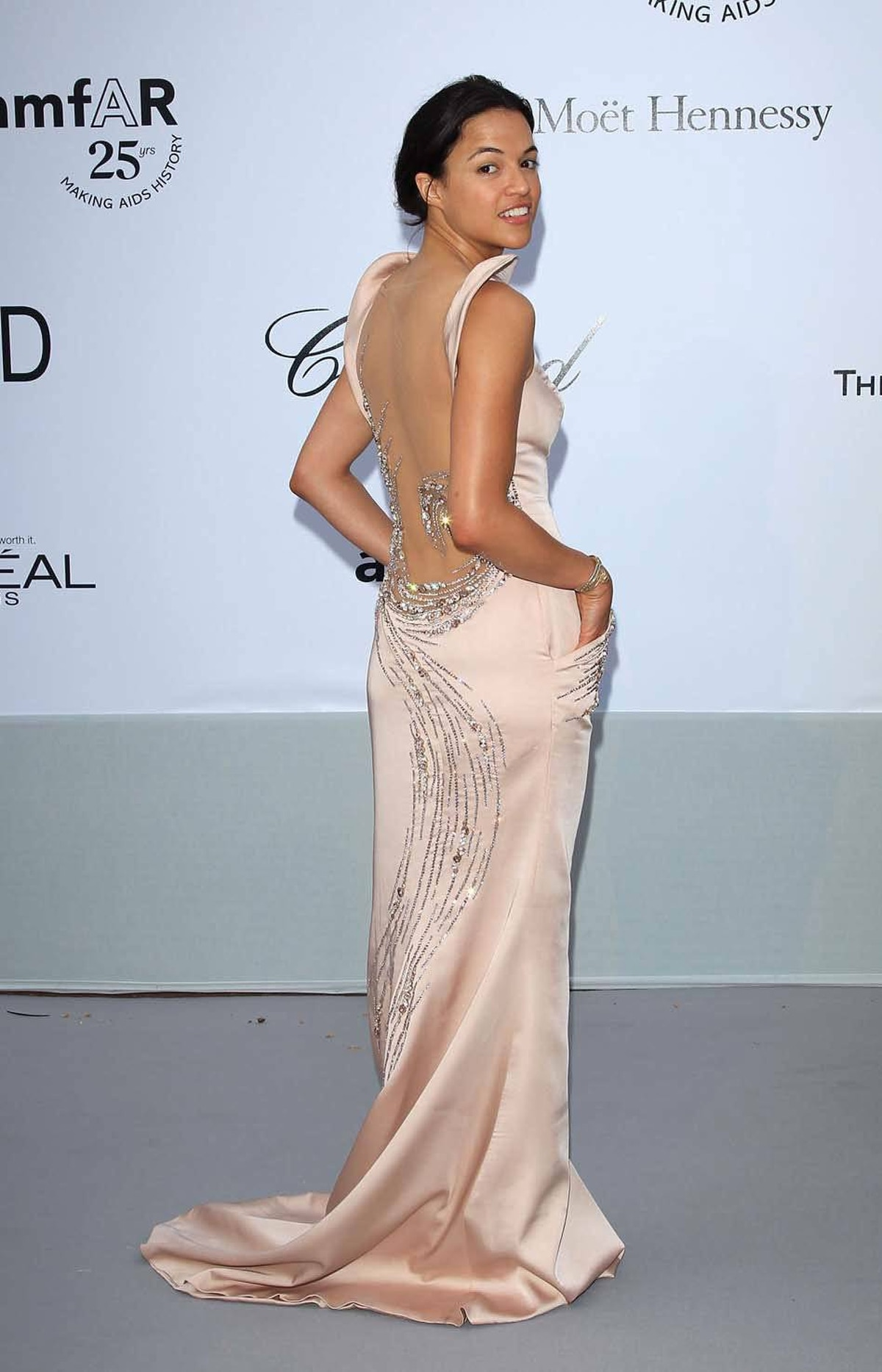 Michelle Rodriguez attends amfAR's Cinema Against AIDS Gala at the Cannes Film Festival on Thursday.