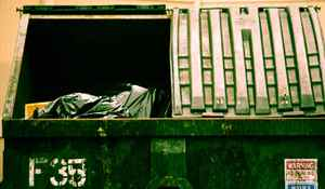 Garbage in dumpster