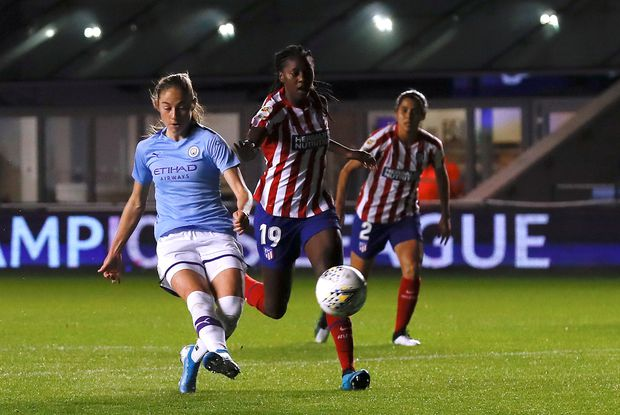 Canadian Janine Beckie scores for Man City in Champions League play