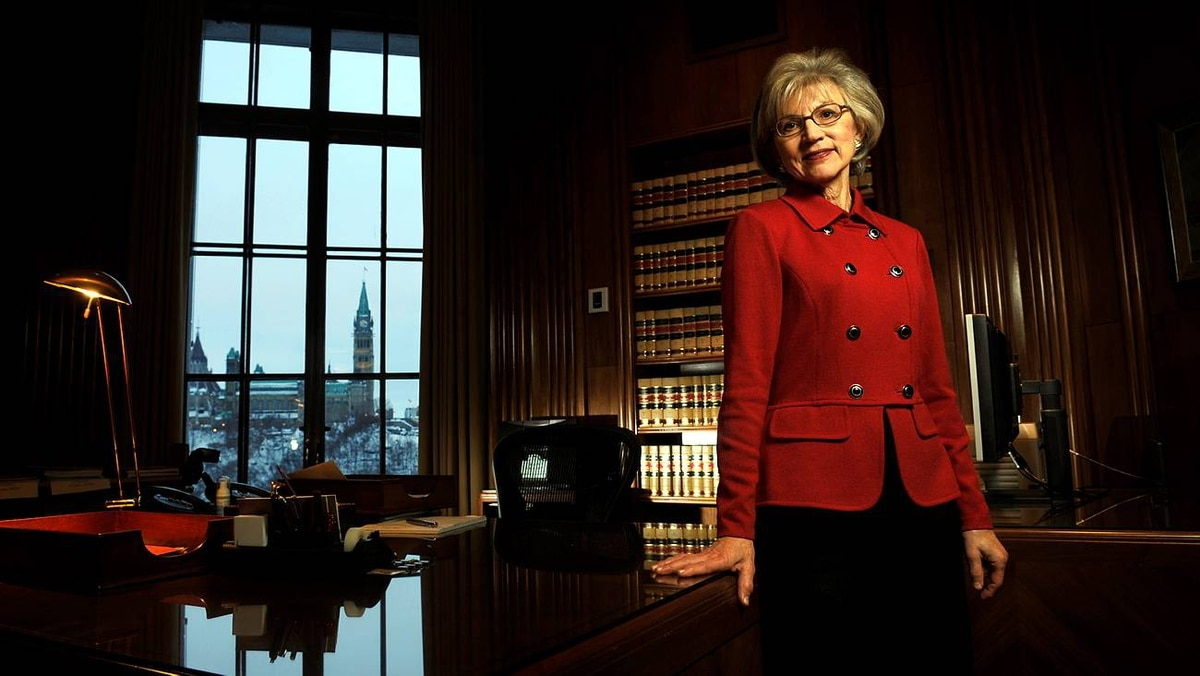 The Right Honourable Madam Chief Justice Beverley McLachlin, P.C., is photographed in her office at the Supreme Court of Canada on Jan. 5, 2010.
