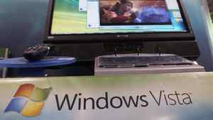 Microsoft Windows Vista operating system is shown at a consumer electronics store, Wednesday, Jan. 24, 2007 in Danvers, Mass.