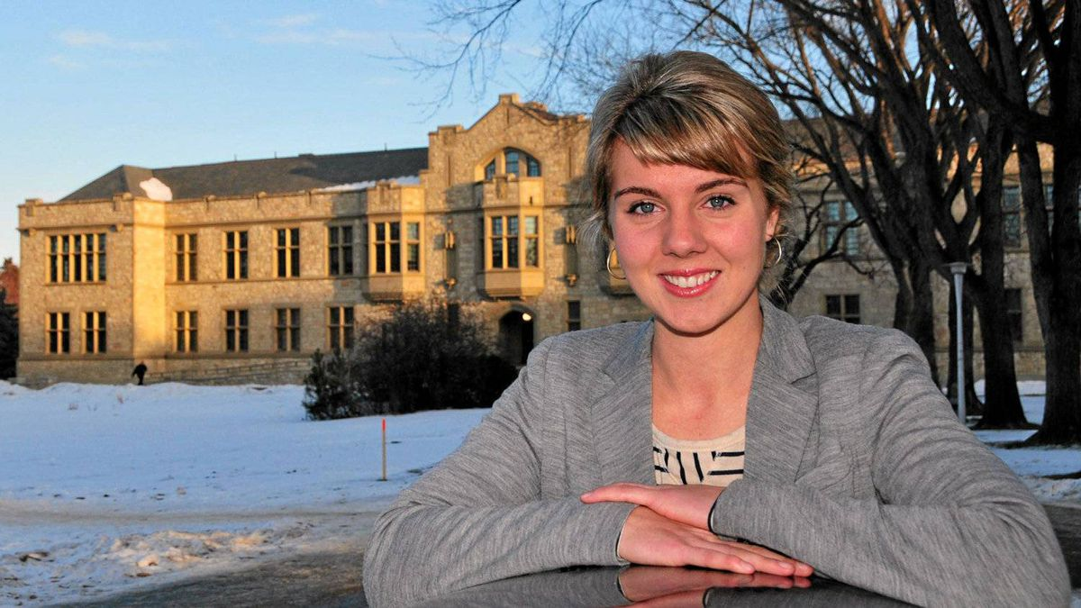Anne Kelly, a student at the University of Saskatchewan in Saskatoon, is one of 11 new Canadian scholars to attend Oxford in 2012 on a Rhodes scholarship.