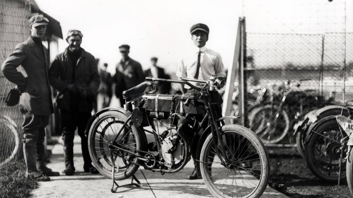 One of the first three Harley-Davidson motorcycles ever built.