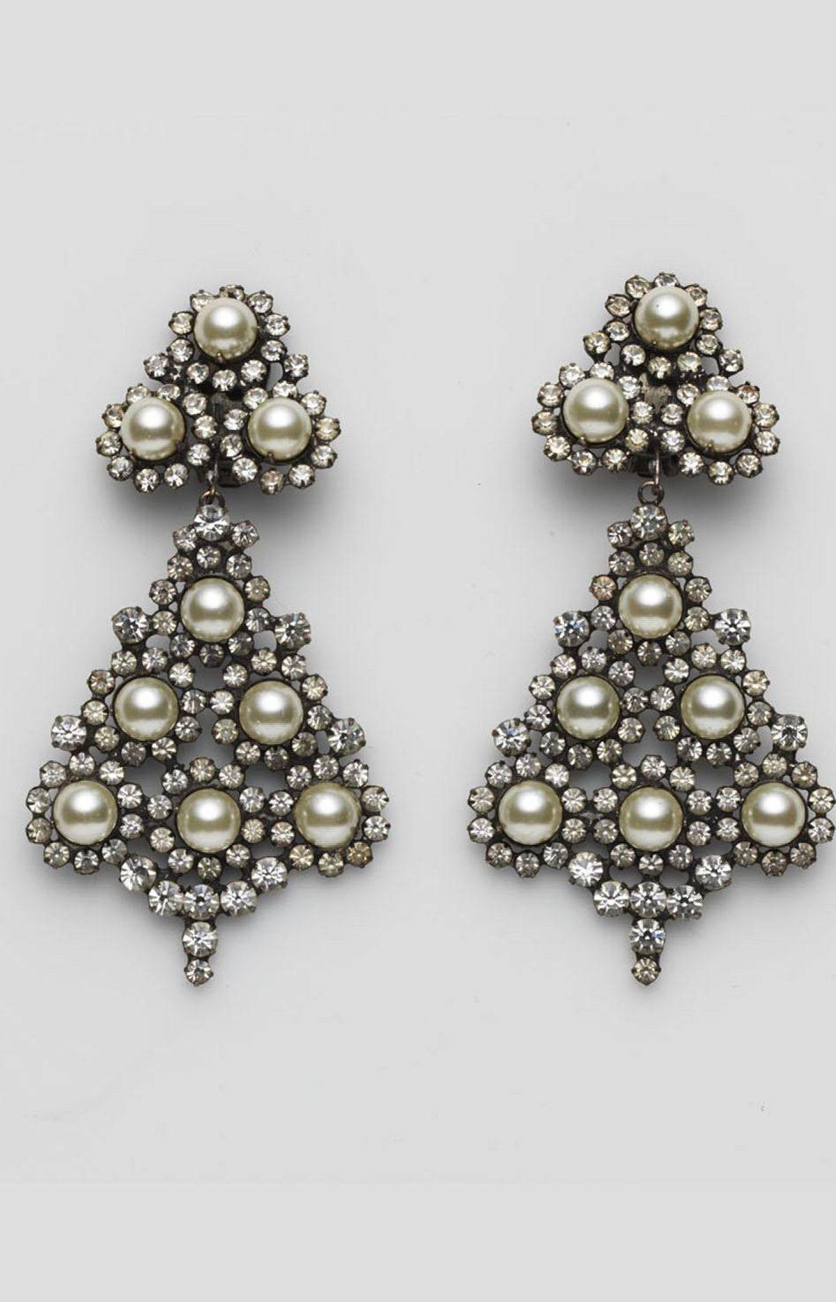 Clip-on earrings by Carole Tanenbaum Vintage Collection, $1,200 through www.caroletanenbaum.com.