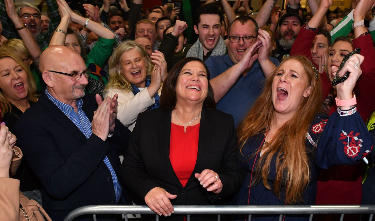 Sinn Fein rides wave of anti-establishment anger to score historic breakthrough in Irish election