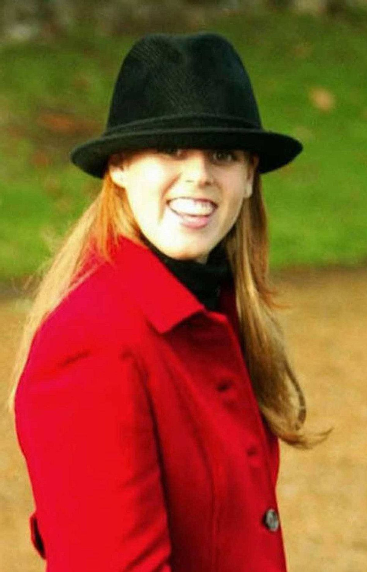 Princess Beatrice leave from St Mary Magdalene Church on the royal estate at Sandringham, Sandringham, Thursday, Dec, 25, 2003, following the Christmas Day service attended by members of the Royal Family.