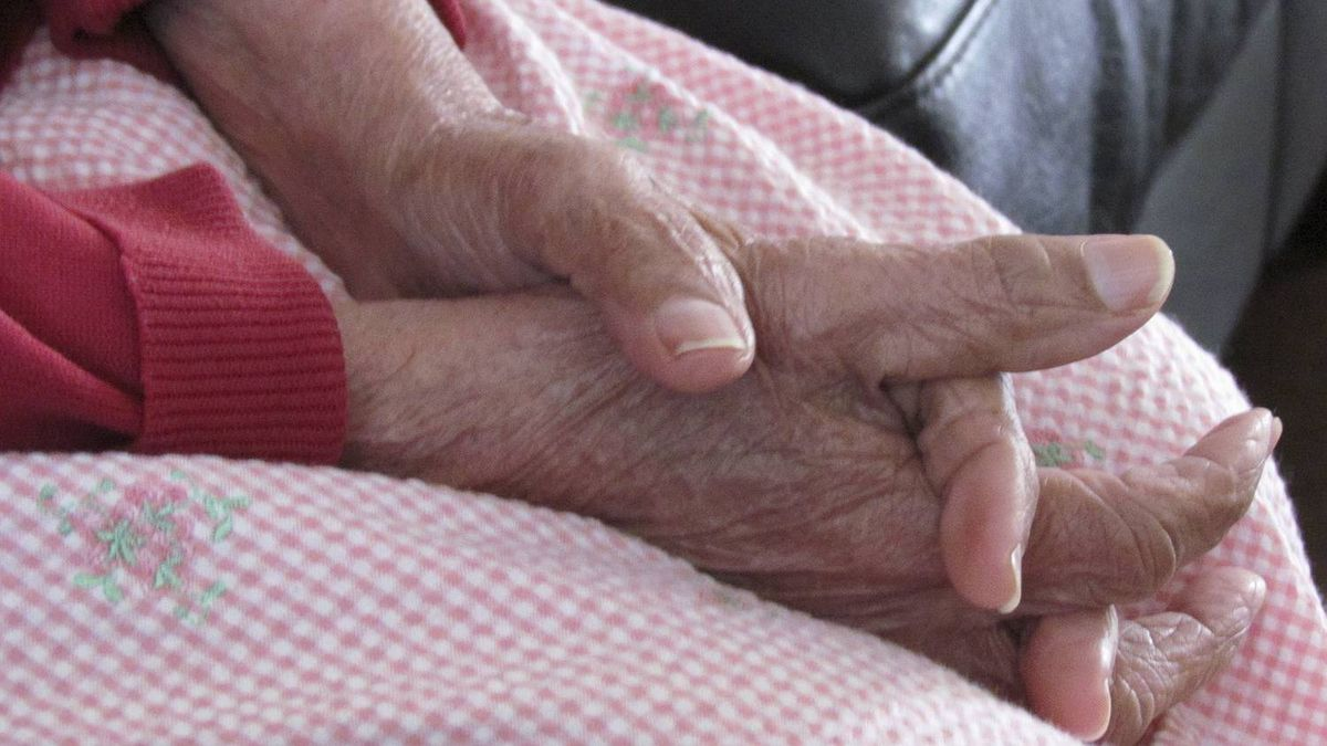 Sharda Bhawanidin photo: My 83-year-old-grandmother has Alzheimer's. I watched her during a visit playing with her hands in her lap. I remembered when I was younger how strong those hands used to be.