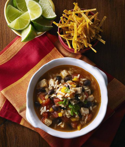 Turkey and Rice Tortilla Soup