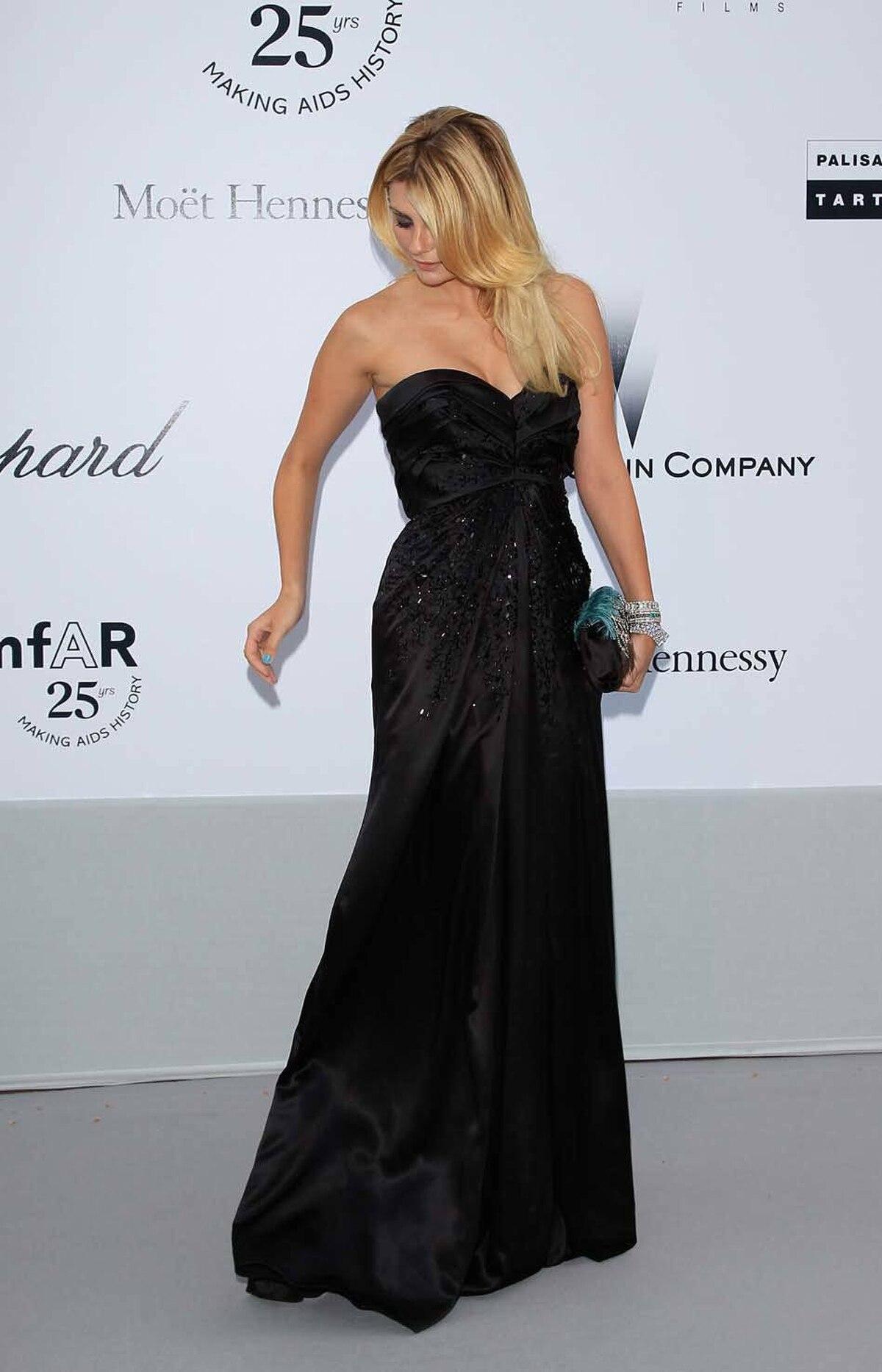 Mischa Barton attends amfAR's Cinema Against AIDS Gala at the Cannes Film Festival on Thursday.