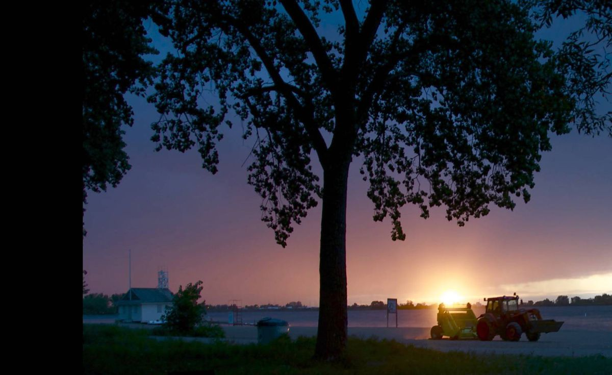 'At work at dawn' was uploaded to our Flickr pool by louise@toronto. The photo was taken at Cherry Beach, Toronto.