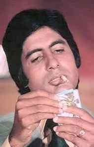 """Amitabh Bachchan At 6 foot 2, with a deep baritone voice and intense stare, Bachchan became the """"angry young man"""" of Bollywood in the 1970s - not easy at a time when directors were looking for fair, clean-cut heroes. His breakout role came in 1973's Zanjeer, a film unlike the romantic flicks of the period. He then went on to popularize a new breed of Hindi film hero in such major hits as spy thriller Deewar and spaghetti western Sholay. He took a break from the movies in the mid-eighties to get involved in politics and suffered a series of box office failures in the nineties - but he's been back with a vengeance since the early 2000s in roles as the family patriarch."""