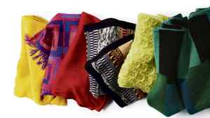 Colourful oversized scarves for winter