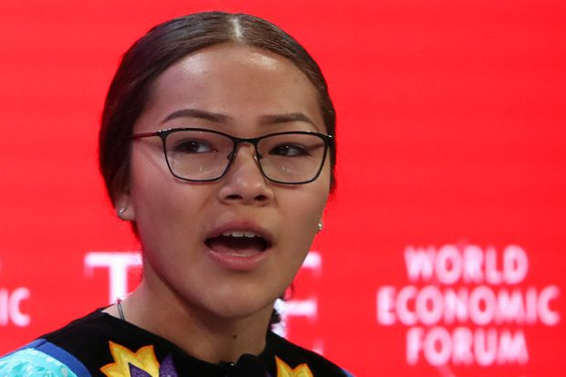 Teen activist Autumn Peltier appears at Davos, says Canadian politicians not focused enough on climate change