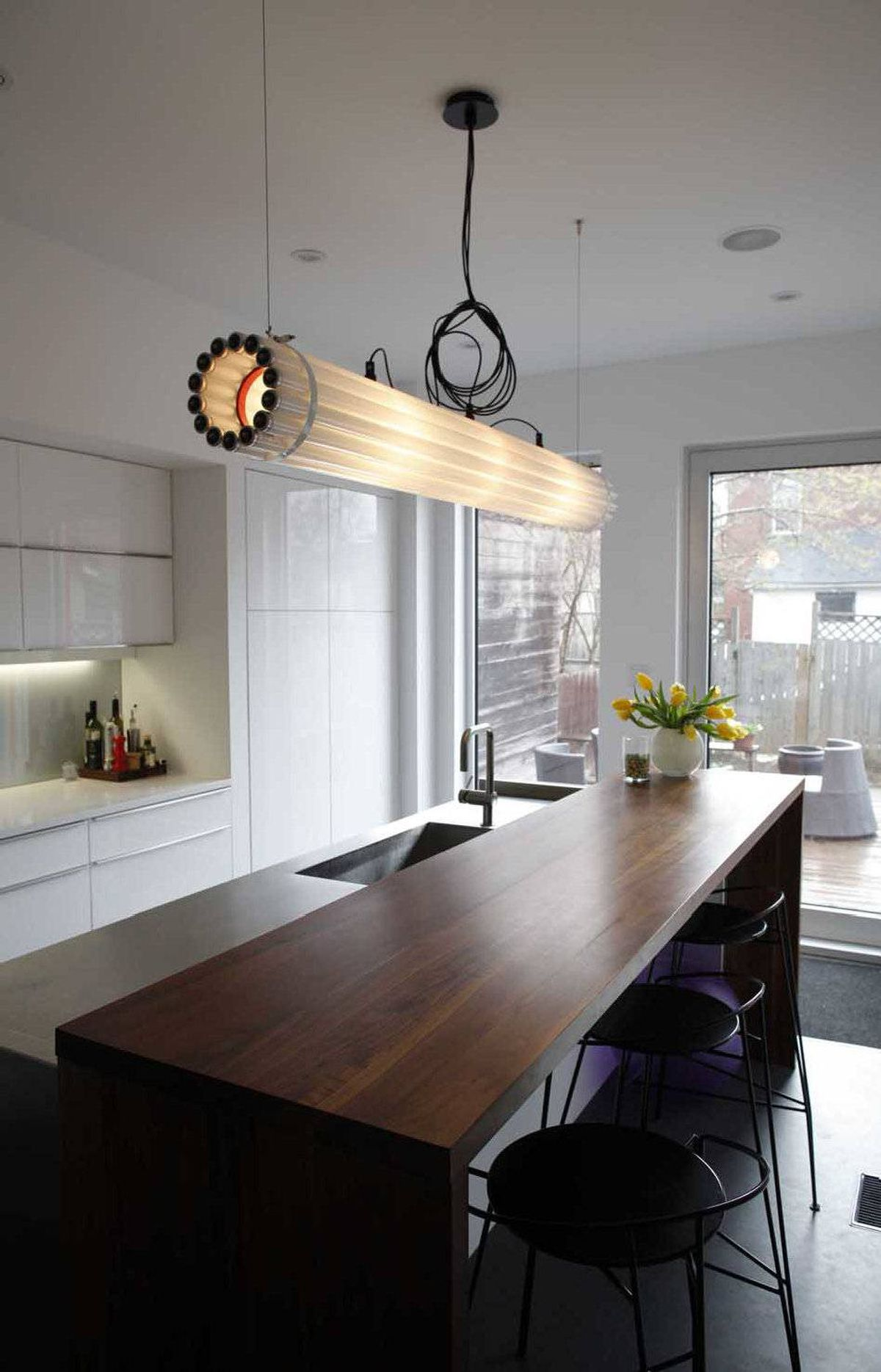 Matthew Carmichael's 11-by-17-foot kitchen was designed with two principal goals in mind: maximum functionality and tranquillity.