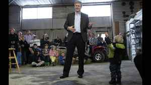 On Monday Conservative leader Stephen Harper toured the partly-rural Niagara region where he pledged to scrap the gun registry if his party won a majority. He also pledged to create a hunting and wildlife advisory panel made up of hunters, fishers and conservation groups to offer Ottawa advice on endangered species and wetland protection. In response to concern about having a hidden agenda, Mr. Harper ruled out introducing measures to restrict abortions or eliminate same-sex marriages should he win a majority government. Mr. Harper also responded to news reports that former PMO adviser Bruce Carson had revealed his past in security screenings. Mr. Harper said he wouldn't have hired Mr. Carson if he had been aware of his past. (Photo: Mr. Harper speaks during a campaign stop at a farm in Wainfleet, Ont.)