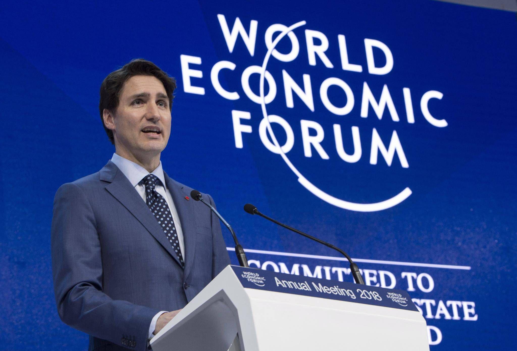 Trudeau In Davos Speech Tells Global Super Rich That Canada Won T