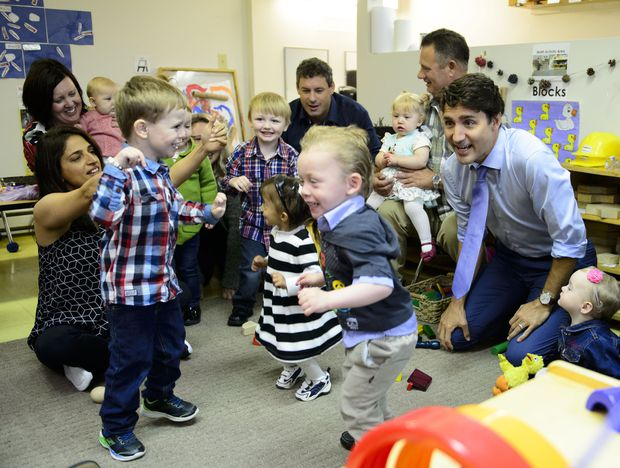 Trudeau seeks to one-up Conservatives with plan on maternity, parental benefits