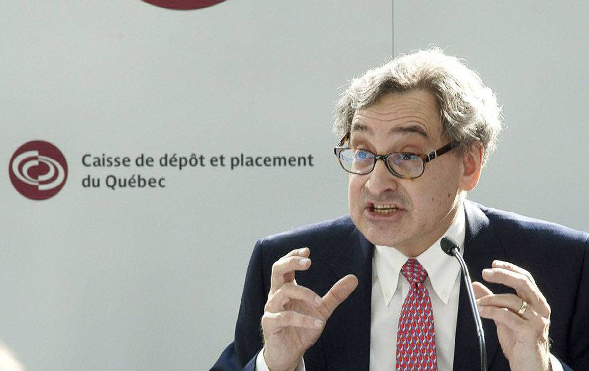 Michael Sabia speaking to the media about La Caisse de Depot outlook for 2012.