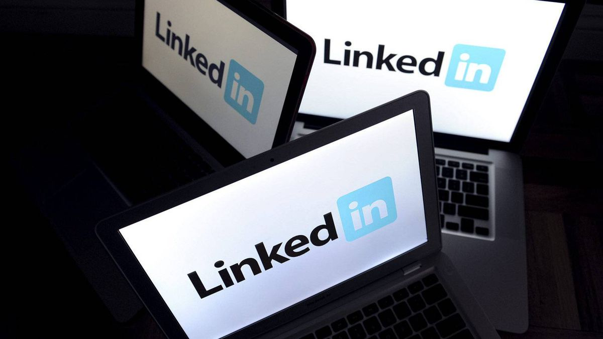 LinkedIn logos are displayed on computer screens in New York, Jan. 27, 2011.