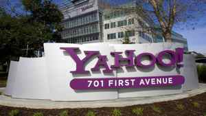 A Yahoo! signs sits out front of company headquarters in Sunnyvale, Calif. in this February 1, 2008 file photo.