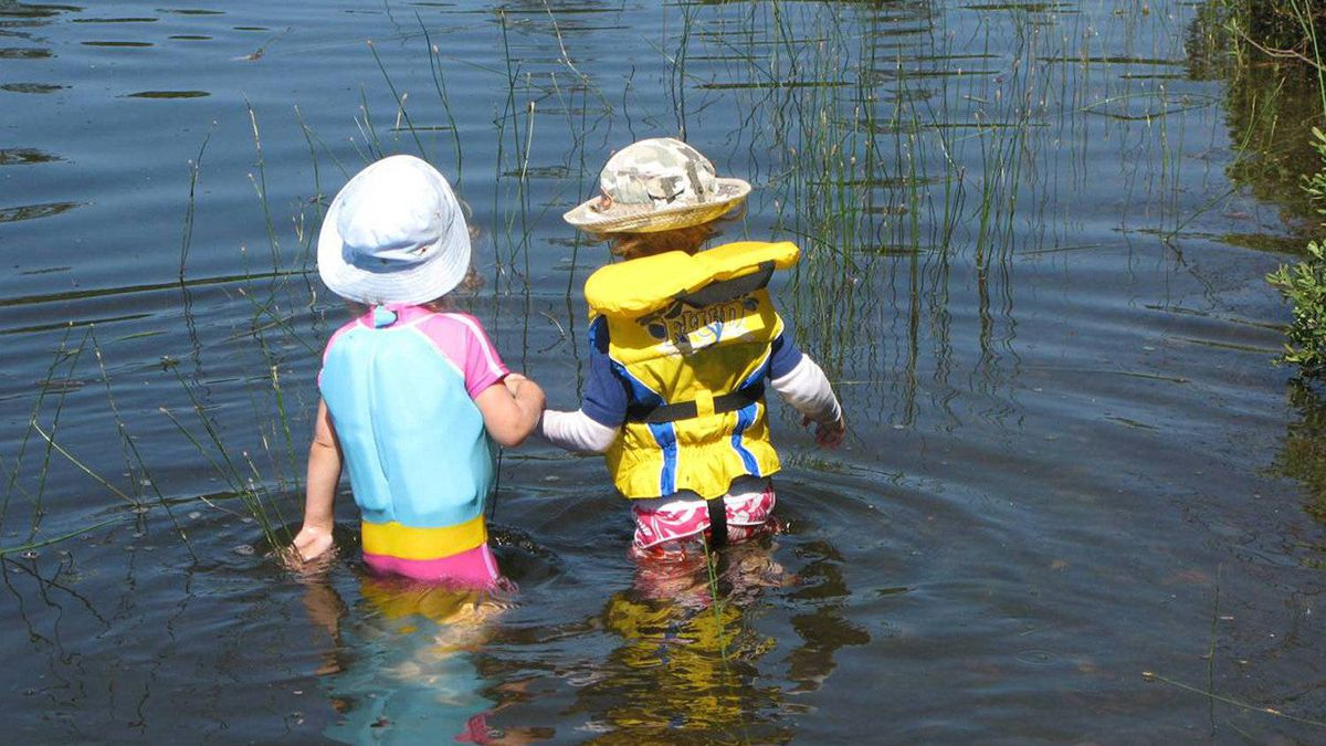 Krista LaRiviere's children Chloe and Marco spend endless hours in the water together, she says.