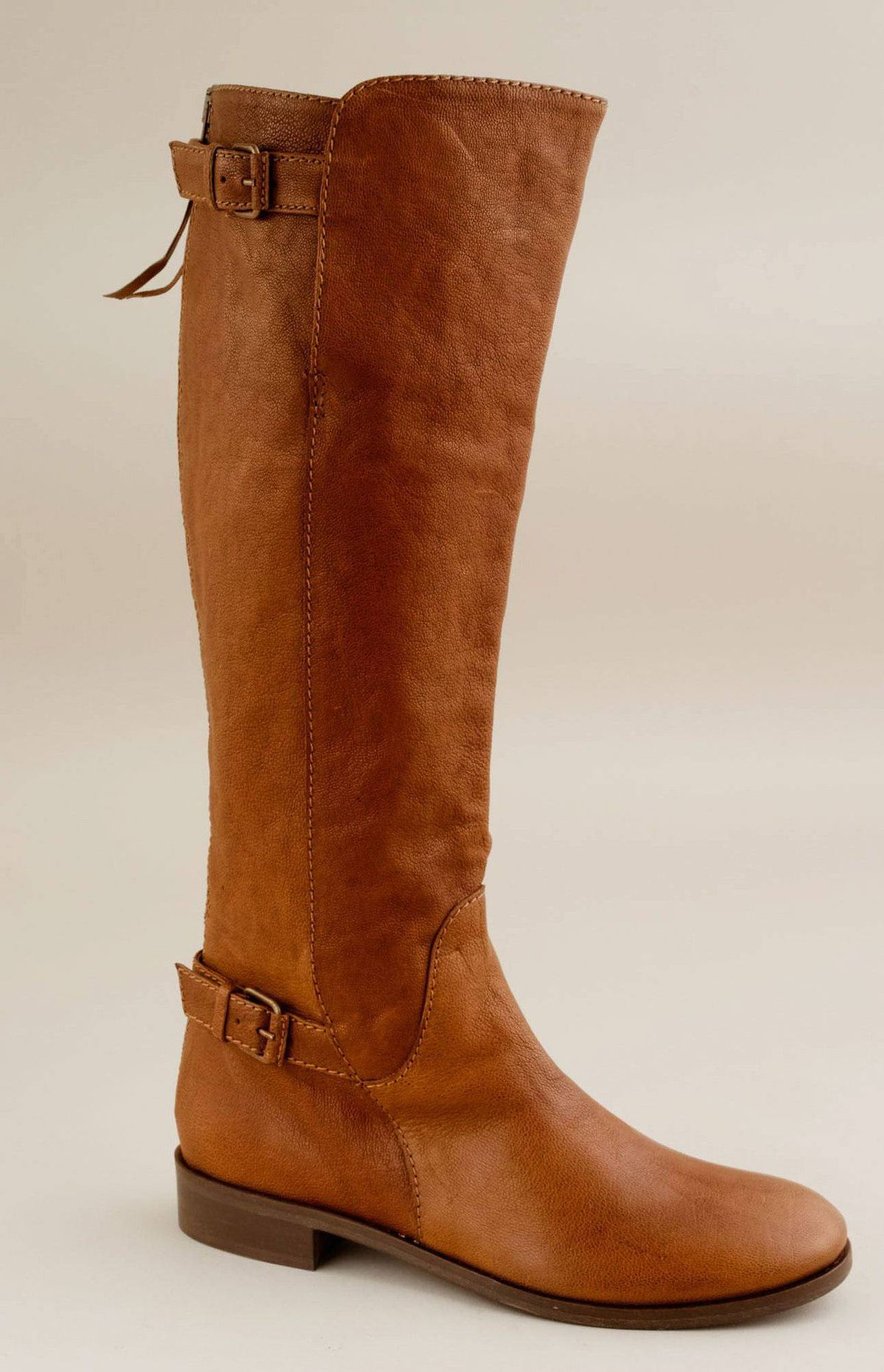 Boot-iful Whether you wear them riding in the mountains of Andalucia or on a ramble through the streets of Madrid, J. Crew's Emmett boots will keep you going all day. The equestrian-inspired design includes a wrap-around ankle strap, antiqued gunmetal-finish brass buckles and a heel-to-knee zip that stretches up the calf. $378; jcrew.com