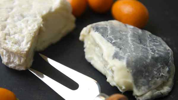 Misty and Moonlight goat cheese from Carmelis paired with kumquats .