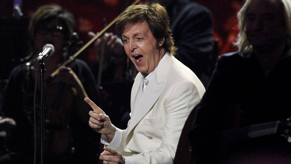 Paul McCartney after performing My Valentine.