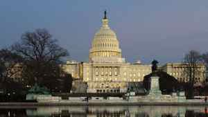 Dusk sets in over the U.S. Capitol building in Washington, January 24, 2012.