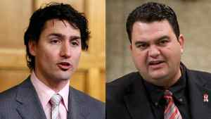 Liberal MP Justin Trudeau and Dean Del Mastro, the parliamentary secretary to the Prime Minister, are shown in a photo combination.