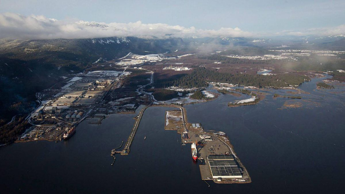 Douglas Channel, the proposed termination point for an oil pipeline in the Enbridge Northern Gateway Project, is pictured in an aerial view in Kitimat, B.C., on Tuesday January 10, 2012.
