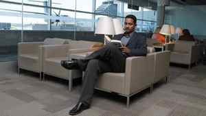 Professor Ray Jayawardhana, Canada Research Chair in Observational Astrophysics at U of T, photographed while reading in the lounge at the Porter terminal at Billy Bishop Airport in Toronto on July 15 2011.