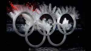 Feb. 12, 2010: A snowboarder flies through the Olympic rings during the opening ceremonies of the Vancouver 2010 Winter Olympics.