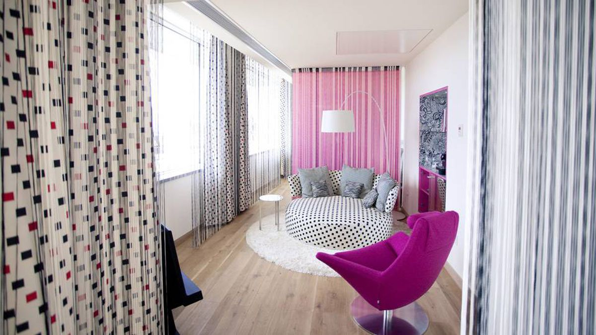 A room at Missoni Edinburgh shows off the fashion house's colours.