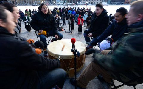 Idle No More's first anniversary marked by native education protest