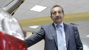 Shahin Alizadeh, President of Toyota on Front , in his new car showroom on August 28, 2008.