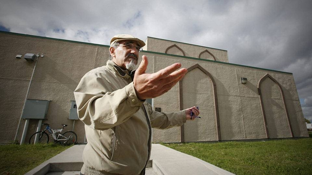 Outside the Grand Mosque and Islamic Centre in Winnipeg on Oct. 1, 2010, Ghassain Joundi, past president of Manitoba Islamic Association, comments on a Globe and Mail story about three Winnipeg men who attended his mosque and are thought to be in Pakistan.