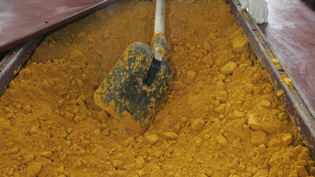 Unprocessed ore containing uranium is seen in this file photo.