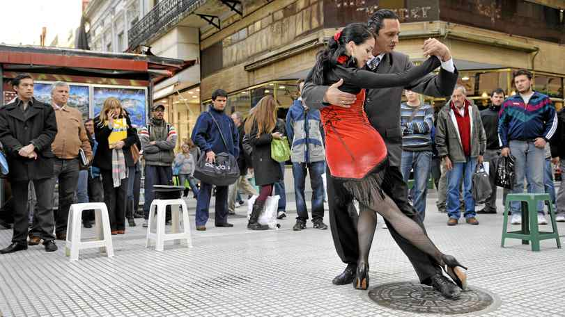 The tango is everywhere in Buenos Aires, from street corners to cemeteries to the city's many milongas.