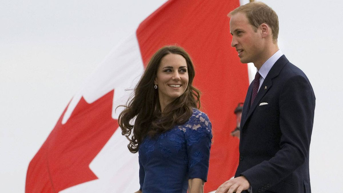 Bonjour, Quebec. The Duke and Duchess of Cambridge leave the HMCS Montreal as they arrive in Quebec City on July 3, 2011.