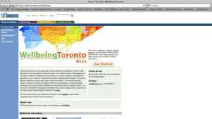 The City of Toronto's mapping website on June 29, 2011.