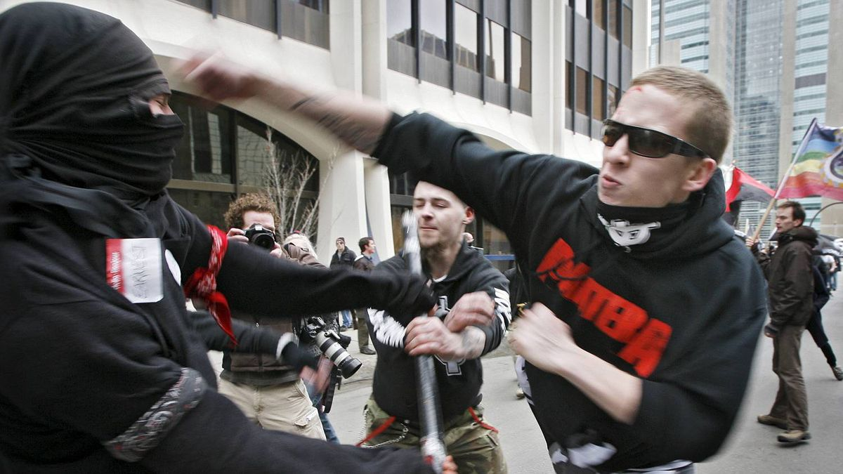 The 2009 protest turned violent as both sides clashed.