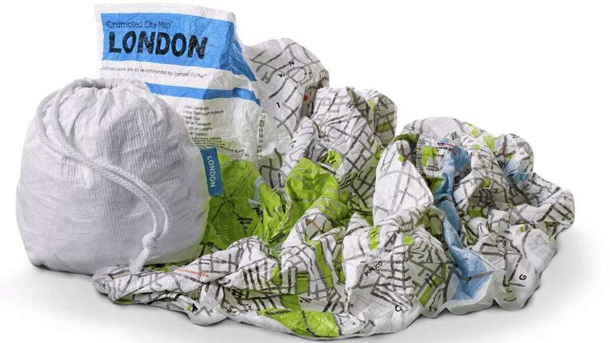 MAP IT Taking in the big city sights with the whole family? Let the kids navigate with the help of the Crumpled City Map. Made from 100 per cent waterproof Tyvek (the same material that goes into car covers and priority mail envelopes) the virtually indestructible map is designed to be used and abused. Consider it a rebellious cousin to the prim, foldable Michelin road atlas. Consult the index of monuments, museums and historic landmarks, then scrunch the Crumpled City Map into a ball and toss it in your bag. Currently available for London, Rome, Paris, New York, Berlin and Hamburg. $19 (€12); palomarweb.com