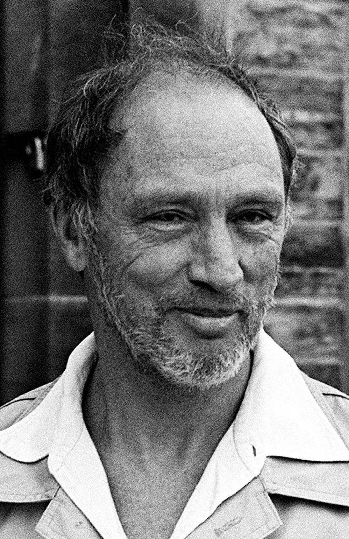 Pierre Trudeau sports a beard after returning from a wilderness canoe trip in the Northwest Territories, in Ottawa, Aug 15, 1979.