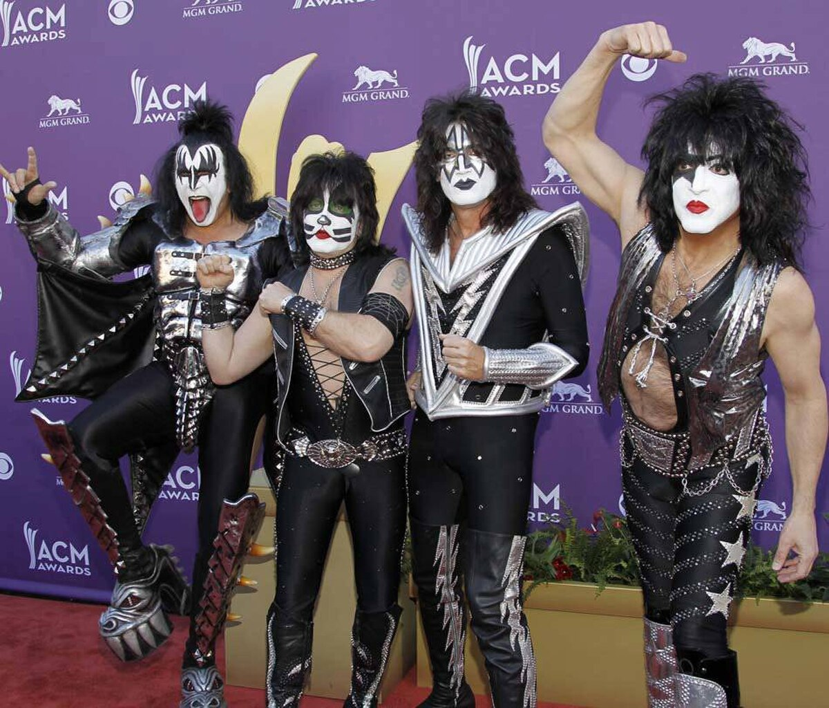Kiss is next at the Academy of Country Music Awards in Las Vegas on Sunday.