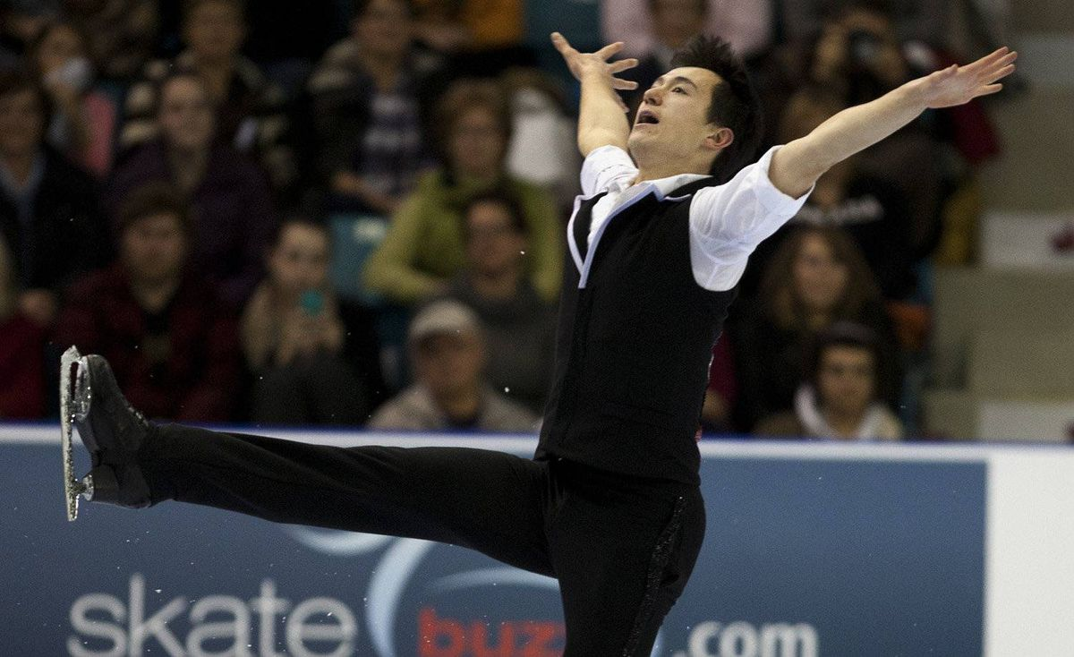 Patrick Chan performs the short program in the senior men's competition at the Canadian figure skating championships in Moncton, N.B. on Saturday, Jan. 21, 2012.